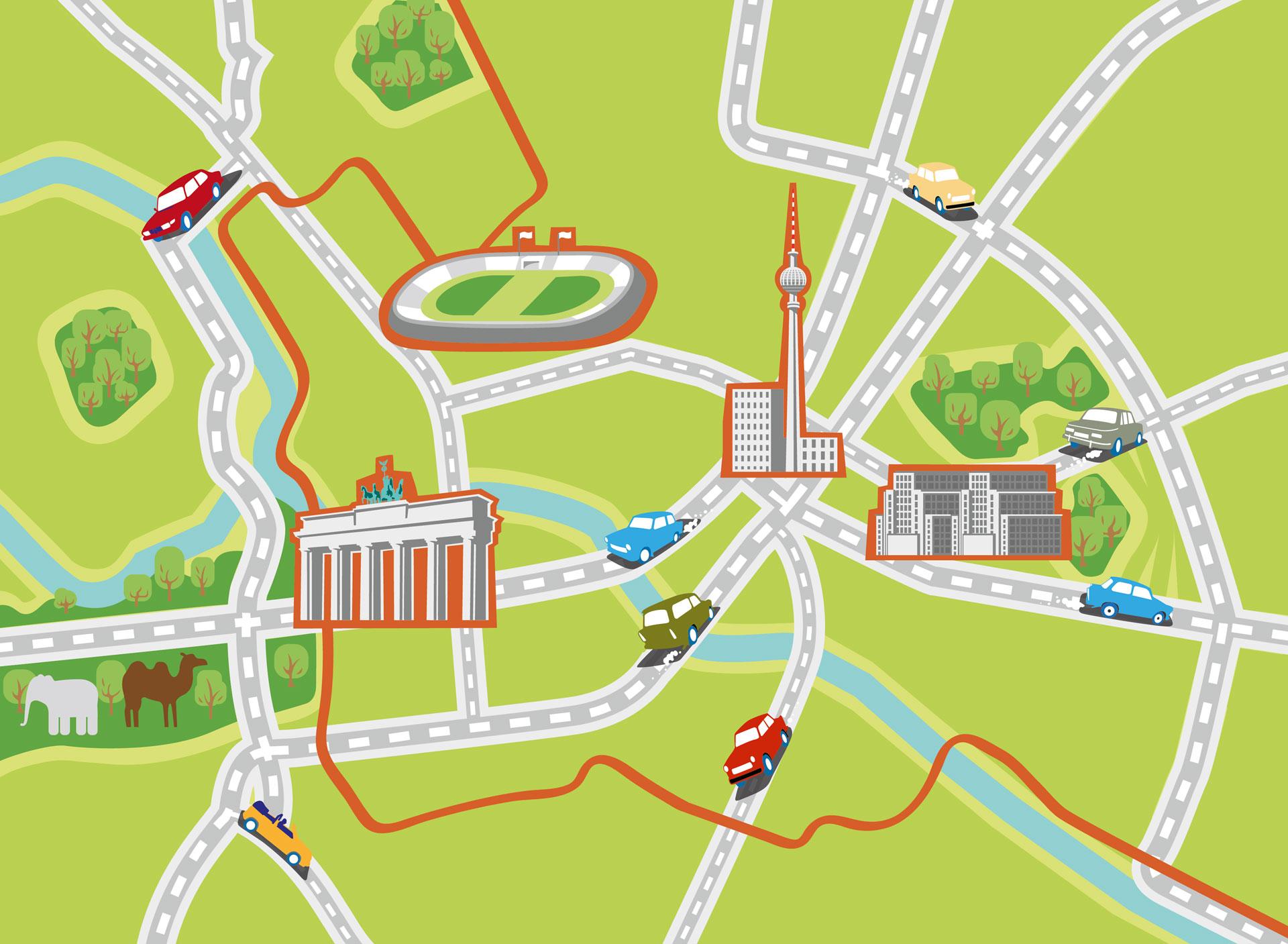 Stadtplan Berlin – Reinhard Blumenschein Illustration München